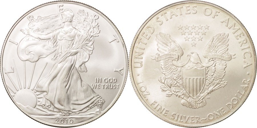 World Coins - United States, 1 Dollar, 2010, Philadelphia, KM #273, , Silver, 40.6,..