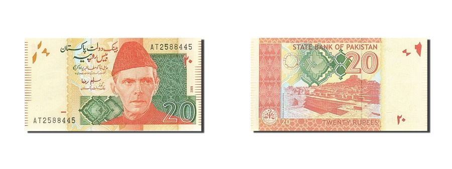 World Coins - Pakistan, 20 Rupees, 2008, KM:55b, 2009, UNC(65-70)