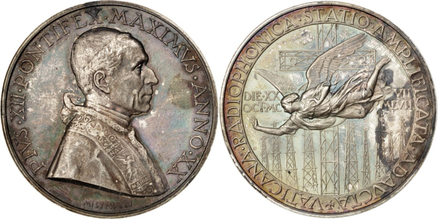 World Coins - Vatican, Religions & beliefs, Medal, , Silver, 44, 37.40