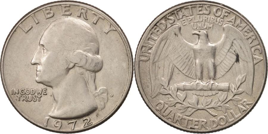 US Coins - United States, Washington Quarter, 1972, Denver, , KM:164A