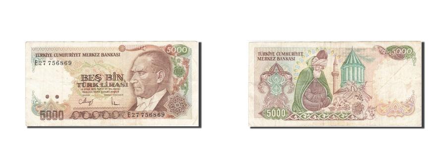 World Coins - Turkey, 5000 Lira, 1984-1997, KM:197, 1985, VF(20-25)