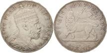 Ethiopia, Menelik II, Birr, 1897, Paris, EF(40-45), Silver, KM:5