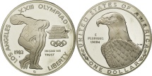 Us Coins - United States, Dollar, 1983, U.S. Mint, San Francisco, MS(64), Silver, KM:209