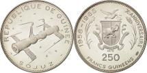 World Coins - Coin, Guinea, 250 Francs, 1970, MS(63), Silver, KM:21