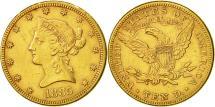 Us Coins - United States, Coronet Head, $10, 1885, Philadelphia, AU(50-53), Gold, KM:102