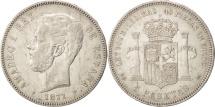 Spain, Amadeao I, 5 Pesetas, 1871, Madrid, EF(40-45), Silver, KM:666