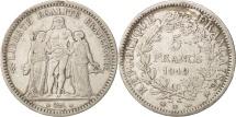 France, Hercule, 5 Francs, 1849, Strasbourg, Silver, KM:756.2, Gadoury:683
