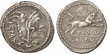 Thoria, Denarius, 105 BC, Roma, AU(50-53), Silver, Sear:5# 192