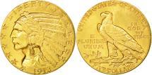 Us Coins - United States, Indian Head, $5, Half Eagle, 1913, Philadelphia, KM 129