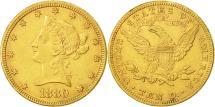 Us Coins - United States, Coronet Head, $10, 1880, Philadelphia, AU(50-53), Gold, KM:102