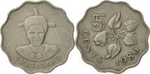 World Coins - Swaziland, Queen Dzeliwe, 5 Cents, 1986, British Royal Mint, EF(40-45)