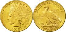 Us Coins - United States, Indian Head, $10, Eagle, 1913,Philadelphia,Gold, AU(50-53),KM 130