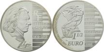 World Coins - France, 1-1/2 Euro, Chopin, PROOF 2005, MS(65-70), Silver, KM:2027