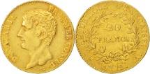 World Coins - France, Napoléon I, 20 Francs, AN 12, Paris, AU(55-58), Gold, KM:651
