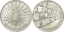 World Coins - Israel, 10 Lirot, 1967, Berne, MS(63), Silver, KM:49