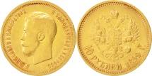 Russia, Nicholas II, 10 Roubles, 1899, St. Petersburg, EF(40-45), Gold, KM:64