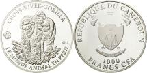 World Coins - Cameroon, 1000 Francs, 2012, MS(65-70), Silver