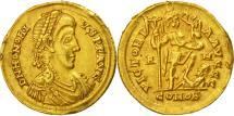 coin, Honorius, Solidus, Rome, AU(50-53), Gold, RIC:1252