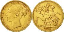World Coins - Australia, Victoria, Sovereign, 1874, Sydney, EF(40-45), Gold, KM:7