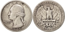 Us Coins - United States, Washington Quarter, 1935, Philadelphia, KM 164