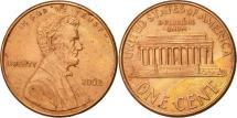 Us Coins - United States, Lincoln Cent, Cent, 2002, U.S. Mint, Philadelphia, AU(55-58)
