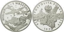 World Coins - Poland, 10 Zlotych, 2009, Warsaw, MS(65-70), Silver, KM:695