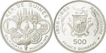 World Coins - Coin, Guinea, 500 Francs, 1970, MS(63), Silver, KM:15