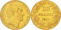 World Coins - Belgium, Leopold I, 20 Francs, 20 Frank, 1865, EF(40-45), Gold, KM:23