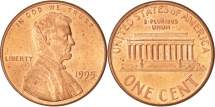 Us Coins - United States, Lincoln Cent, 1995, Philadelphia, MS(64), KM:201b