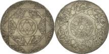 Morocco, 'Abd al-Aziz, 5 Dirhams, 1897, Berlin, EF(40-45), Silver, KM:12.1
