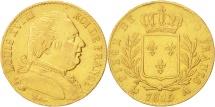 France, Louis XVIII, 20 Francs, 1815, Paris, EF(40-45), Gold, KM 706.1