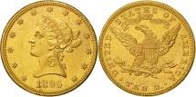 Us Coins - United States, Coronet Head, $10, 1895, Philadelphia, AU(55-58), Gold, KM 102