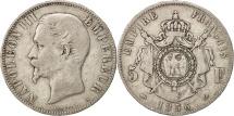 France, Napoléon III, 5 Francs, 1856, Paris, VF(30-35), Silver, KM:782.1