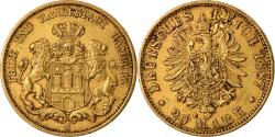 Ancient Coins - Coin, German States, HAMBURG, 20 Mark, 1887, Hamburg, , Gold, KM:602