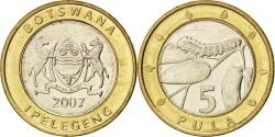 World Coins - BOTSWANA, 5 Pula, 2007, British Royal Mint, KM #30, , Bi-Metallic, 23.4,..