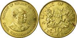 World Coins - Coin, Kenya, 10 Cents, 1990, British Royal Mint, ,  Nickel-brass, KM:18