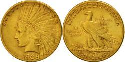 Us Coins - United States, Indian Head, $10, Eagle, 1908, Denver, , KM 130