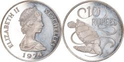 World Coins - Coin, Seychelles, 10 Rupees, 1974, British Royal Mint, , Silver, KM:20a
