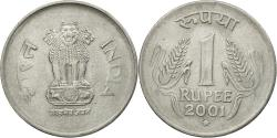 World Coins - Coin, INDIA-REPUBLIC, Rupee, 2001, , Stainless Steel, KM:92.2