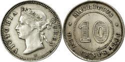 World Coins - Coin, Mauritius, Victoria, 10 Cents, 1889, Heaton, , Silver, KM:10.1
