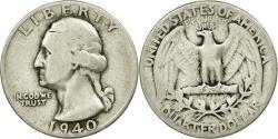 Us Coins - Coin, United States, Washington Quarter, Quarter, 1940, U.S. Mint, Philadelphia