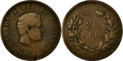 World Coins - Coin, Portugal, Carlos I, 20 Reis, 1891, , Bronze, KM:533