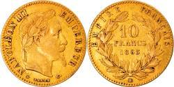 World Coins - Coin, France, Napoleon III, Napoléon III, 10 Francs, 1863, Strasbourg
