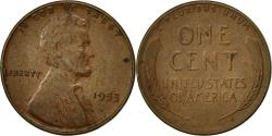 Us Coins - United States, Lincoln Cent, Cent, 1953, U.S. Mint, Philadelphia,