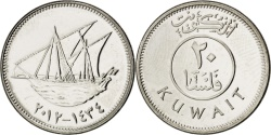 World Coins - Kuwait, 20 Fils, 2012, KM #New, , Cupro-nickel, 2.99