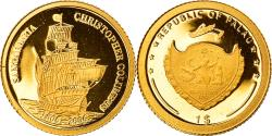 World Coins - Coin, Palau, Christofer Colombus, Dollar, 2006, , Gold