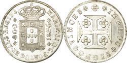 World Coins - Coin, Portugal, Maria II, 400 Reis, Pinto, 480 Reis, 1834, Lisbon,
