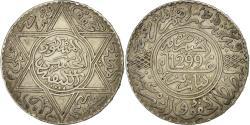 World Coins - Coin, Morocco, Moulay al-Hasan I, 10 Dirhams, 1881, Paris, , Silver