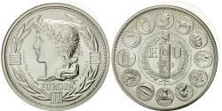 World Coins - France, Medal, Ecu Europa, Marianne, 1989, Rodier, , Silver