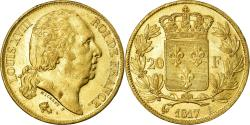 World Coins - Coin, France, Louis XVIII, 20 Francs, 1817, Paris, , Gold, KM:712.1
